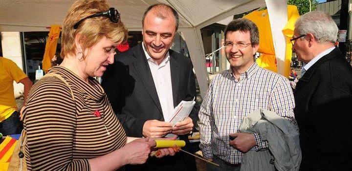 Antoni Garcia i Anna Simó per Sant Jordi a l'Hospitalet
